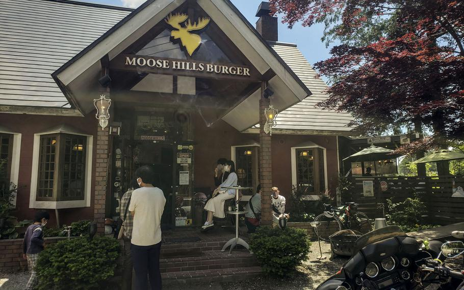 Moose Hills Burger, near the base of Mount Fuji in Yamanashi prefecture, specializes in satisfying big appetites.