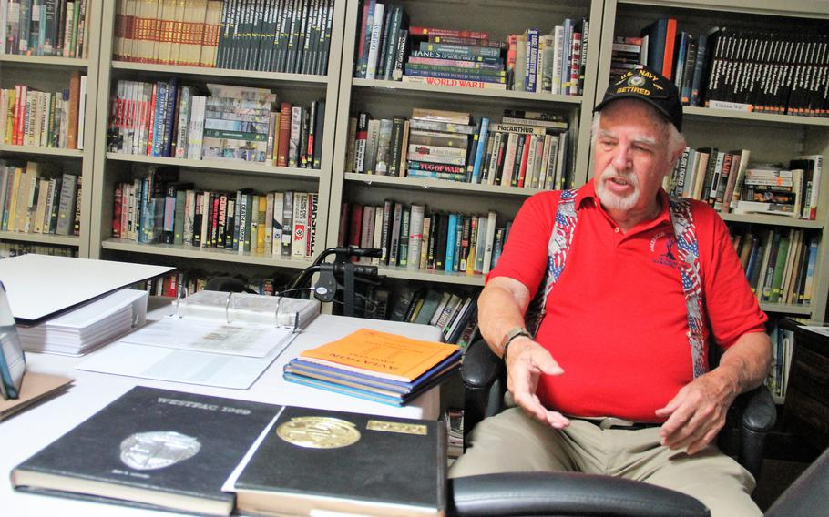 """Vietnam Veteran Jerry Mooney talks about his cruise books and how they """"represent my life in Vietnam from 1966 through 1975 with the exception of 1970-1973 when I was back in the U.S."""" Mooney was stationed at Kirtland Air Force Base from 1970-1973."""