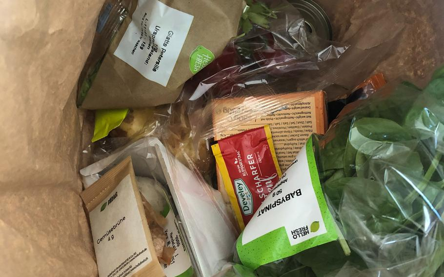 Hello Fresh Germany reduces food waste by including exact portion sizes called for in its recipes in meal bags.