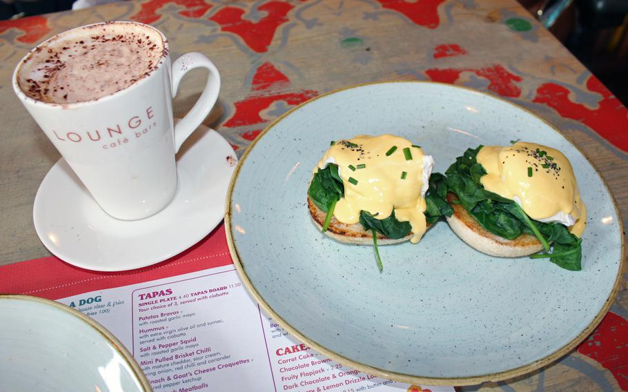 """Edmundo Lounge offers a brunch menu featuring seven variations of eggs benedict, or """"lounge eggs."""""""