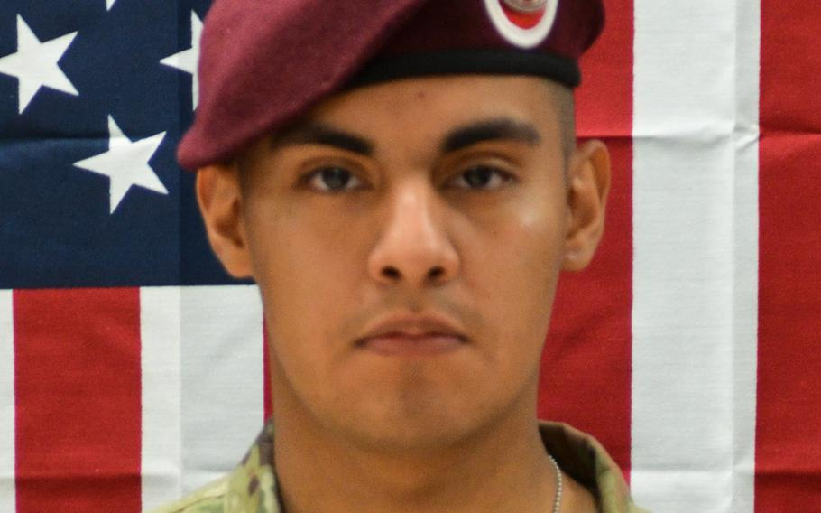 Pfc. Miguel A. Villalon, 21, was killed on Jan. 11, 2020, when his vehicle struck a roadside bomb in Kandahar province, Afghanistan.   U.S. Army