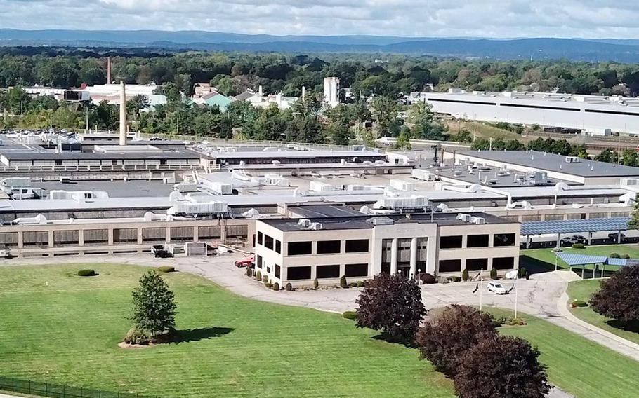 The Smith & Wesson corporate headquarters and manufacturing in Springfield, Mass.