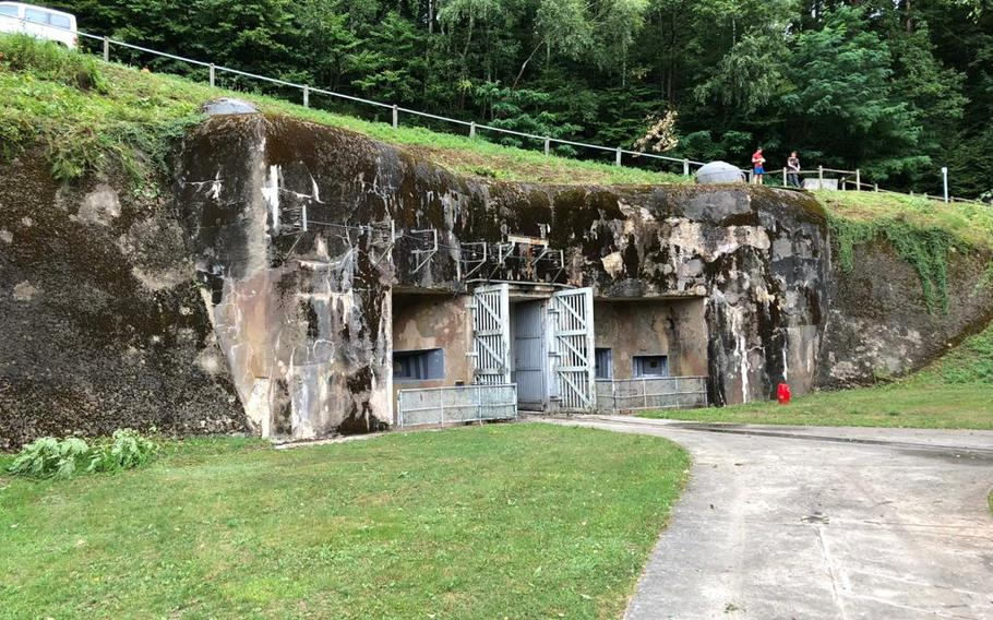 One of the entrances to the Simserhof fortification in eastern France. The underground complex, which was part of the Maginot Line of defenses that ran along France's eastern border, produced its own electricity, had air filters that ran 24/7, and enough food and drinks for soldiers to live underground for months.
