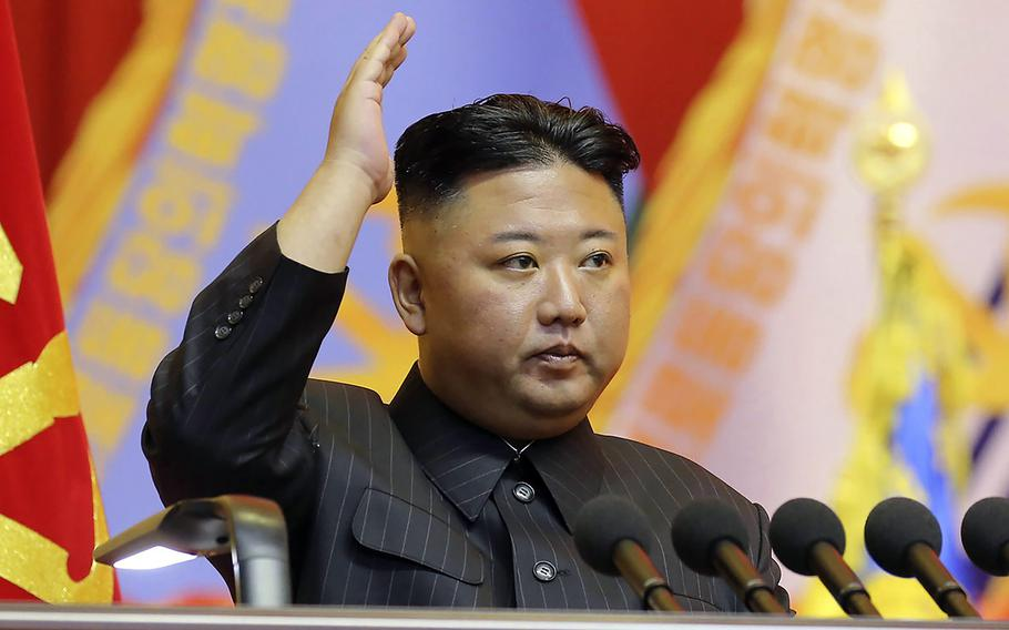 North Korean leader Kim Jong Un, seen here in an image provided by the state-run Korean Central News Agency, has been summoned by a Japanese court to answer for alleged human rights abuses.