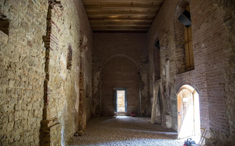 Reconstruction of the apse at St. Agid Bergheim Church in Hohenfels Training Area, Germany, has turned the building into a sanctuary for a handful of bat species.