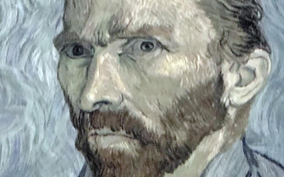 A Vincent Van Gogh self-portrait is projected digitally at Beyond Van Gogh: The Immersive Experience, which runs through Sept. 26, 2021, at the Honolulu Convention Center.