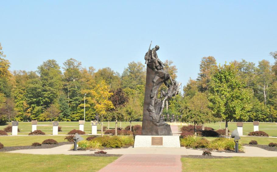 The Mountaineers Monument at Memorial Park is located in front of the 10th Mountain Division headquarters at Fort Drum, N.Y. The statue was unveiled onOct. 4, 1991, and has become a symbol for the soldiers of the10th Mountain Division, both past and present.