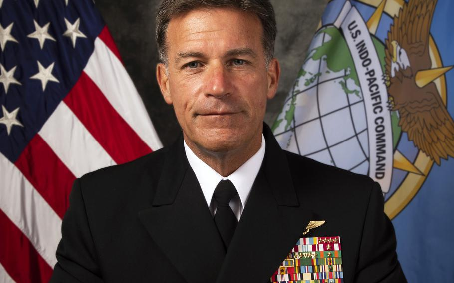 Beijing's heavy-handed actions in Hong Kong have heightened concern over China's intentions toward Taiwan, Adm. John Aquilino, the head of U.S. Indo-Pacific Command, said Thursday, Aug. 5, 2021.