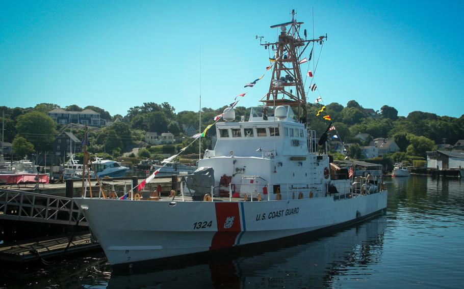 The Coast Guard cutter Key Largo at its homeport in Gloucester, Mass.