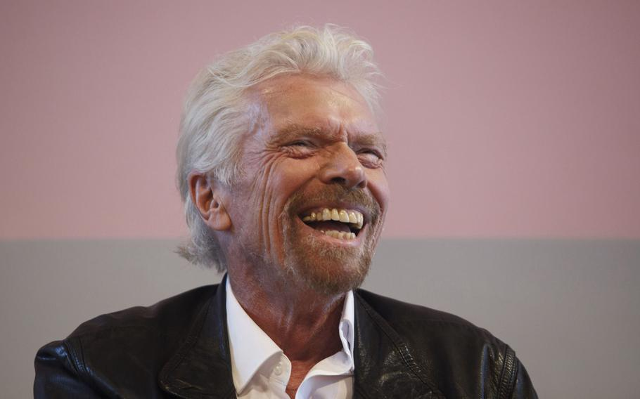 Billionaire Richard Branson, founder and president of Virgin Atlantic Airways, at the Peres Center for Peace in Tel Aviv, Israel, on Oct. 24, 2019. Branson plans to fly to space on July 11, 2021.