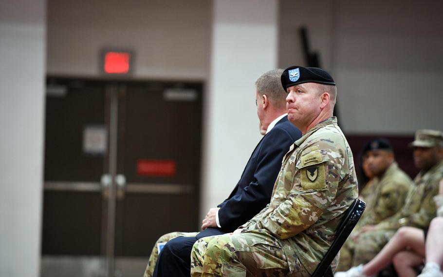 Col. Michael Tremblay's two-year tenure as Camp Humphreys' commander came to a close Tuesday, June 15, 2021, during an emotional ceremony at a base fitness center.