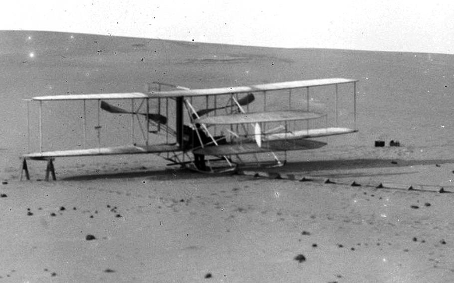 The Wright brothers' 1908 airplane was the first plane in America to fly a passenger, and the world's first military aircraft.