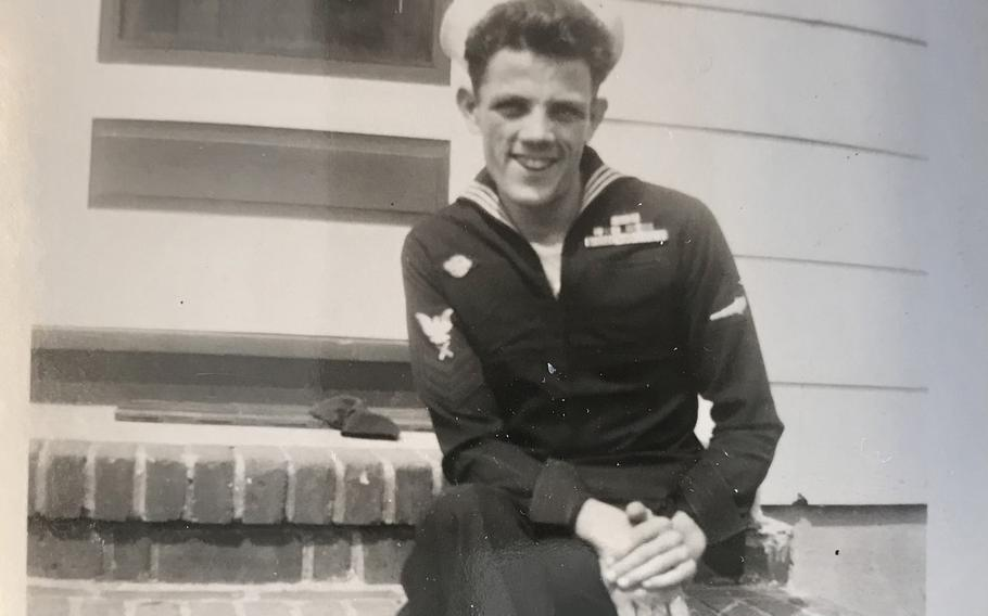 Joe Hall in New Jersey after his discharge from the Navy in August 1946.