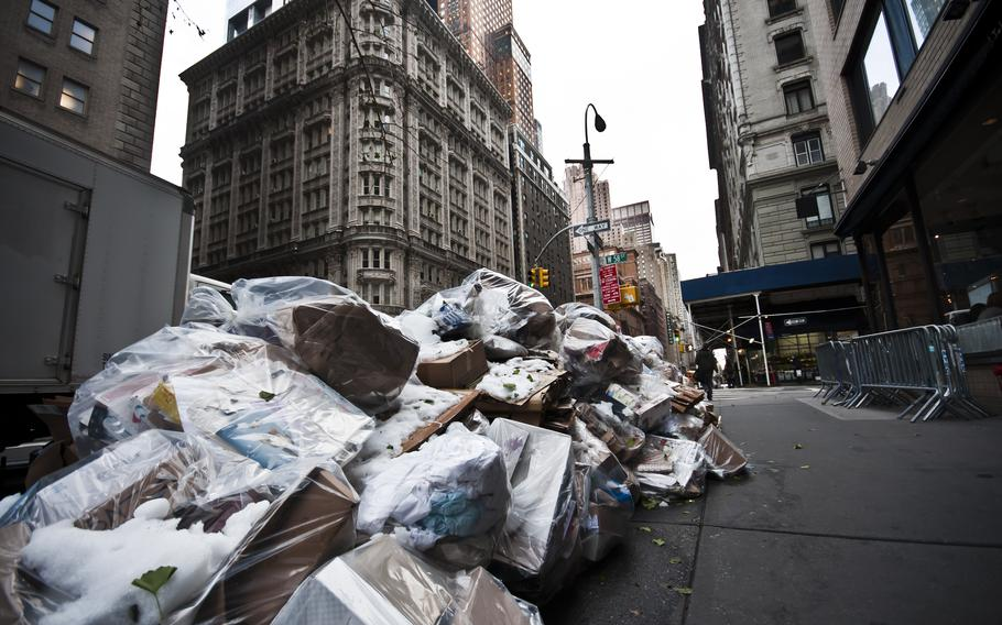 Some areas of New York City are less scenic than others.