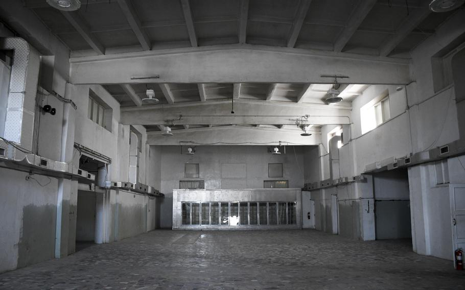 The main post exchange at Bagram Airfield, Afghanistan, which once bustled with shoppers, stands empty July 7, 2021, after U.S. troops left the base.