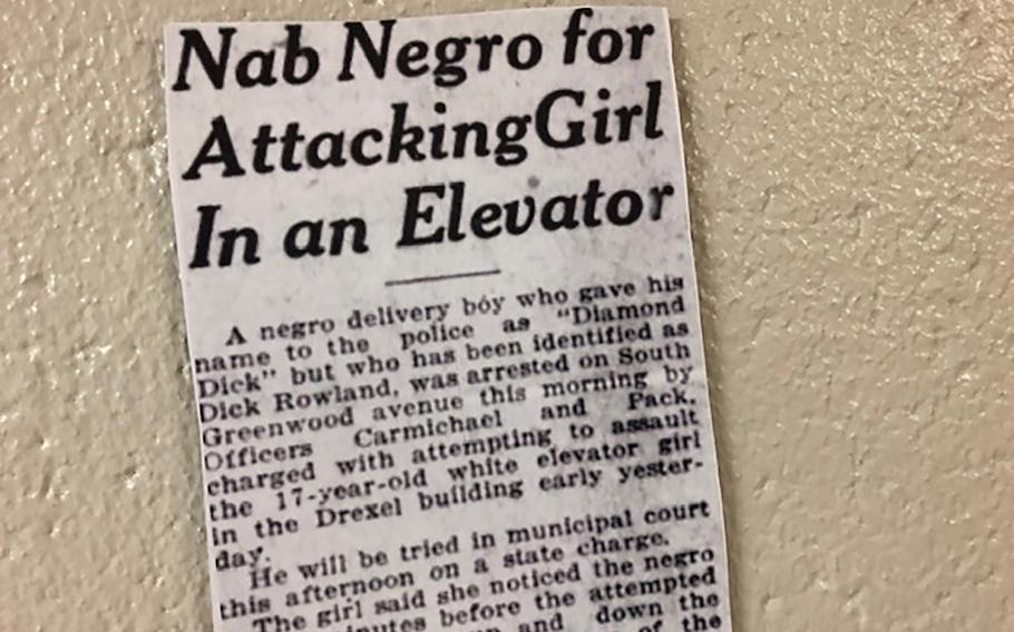 """Historians say this 1921 Tulsa newspaper report, with the headline """"Nab Negro for Attacking Girl In an Elevator,"""" helped incite the massacre."""