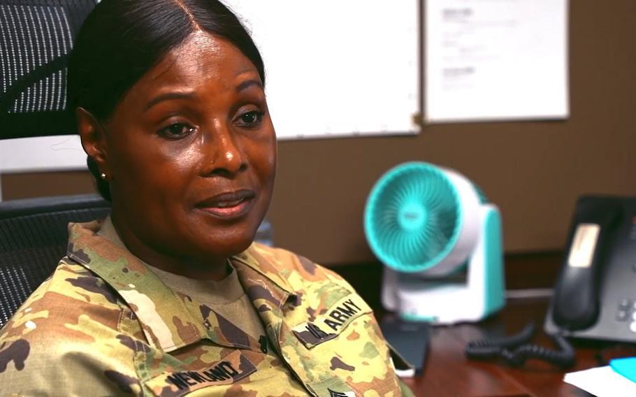 Sgt. 1st Class Carol E. Newland.