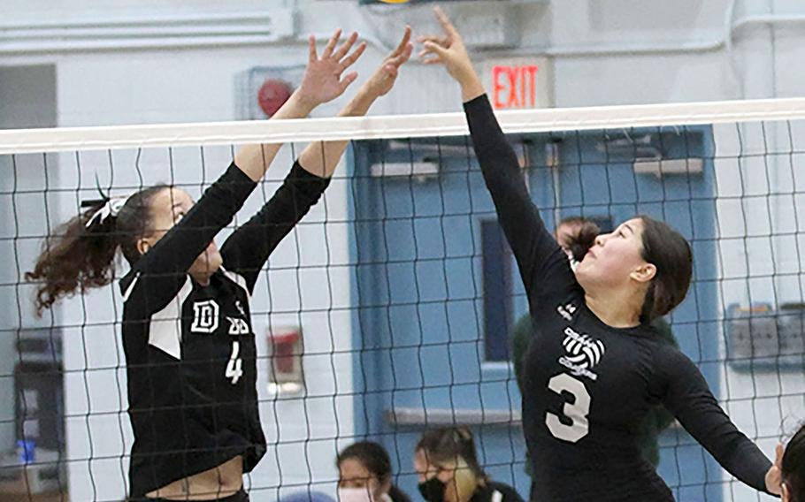 Daegu's Izzy Thurman and Osan's Angela Serrano are among players returning to DODEA-Korea girls volleyball teams that are veteran-heavy.