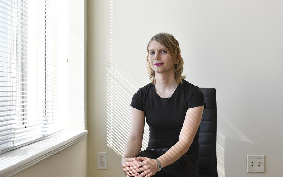 Former Army intelligence analyst Chelsea Manning, shown in 2018, is trying to overturn a ban on her entering Canada.