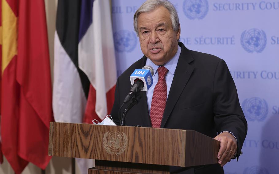 United Nations Secretary-General Antonio Guterres called on nations to unfreeze assets to allow Afghanistan's economy to grow.