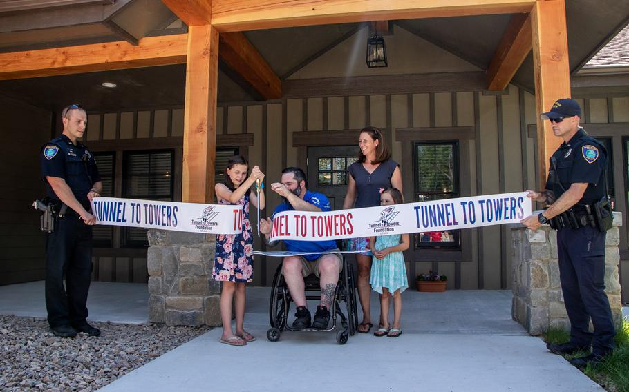 The Tunnel to Towers Foundation built a smart home for Navy veteran Austin Reese, his wife and their two daughters.