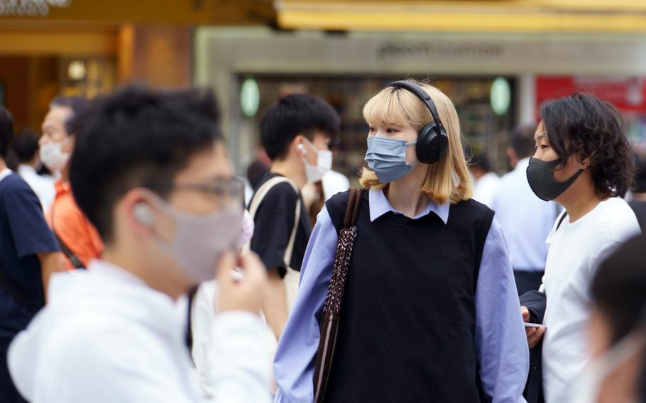 Tokyo reported another 1,675 people had tested positive for coronavirus Thursday, Sept. 9, 2021. That's 1,424 fewer cases than one week ago
