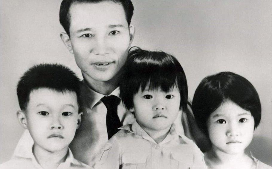 Army Maj. Gen. Viet Luong, far left, was 9 years old when he fled Vietnam with his family in 1975. He's pictured here with his father and siblings in 1973.