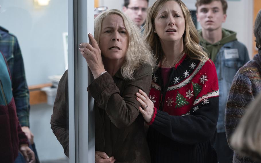 """Jamie Lee Curtis and Judy Greer return to the """"Halloween"""" franchise in """"Halloween Kills,"""" directed by David Gordon Green."""