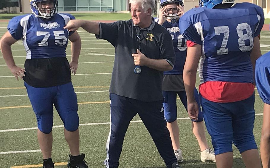 Tim Pujol is in his 22nd year as coach of the Yokota Panthers.