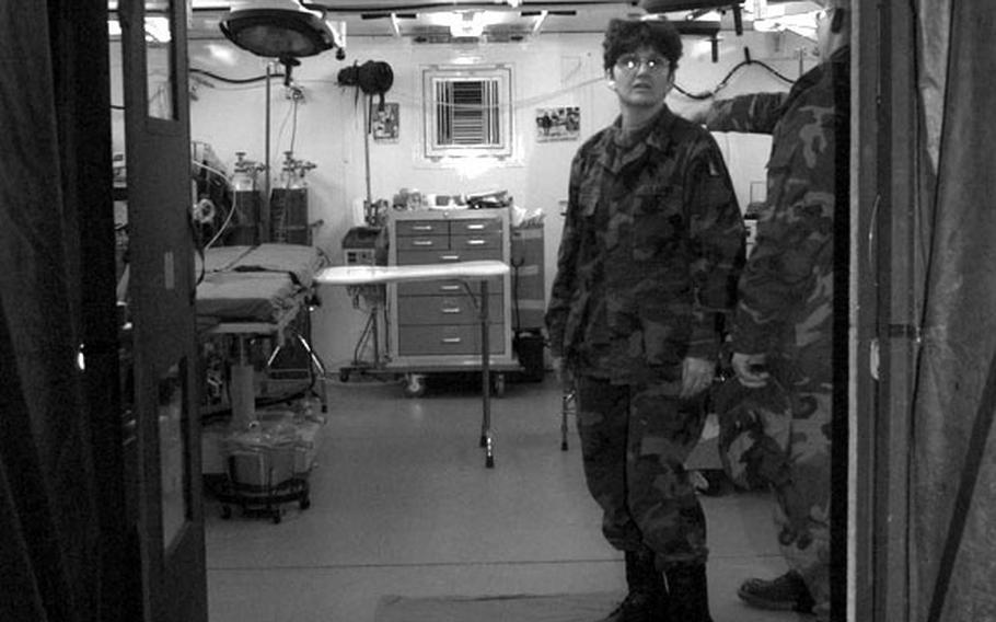 Taszar AB, Hungary, January, 1996: The medical facility at Taszar, considered to be the most advanced field hospital ever deployed, is equipped with operating rooms as well.