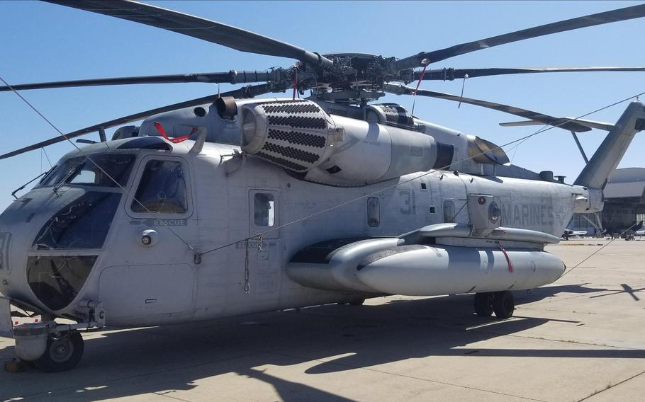 The CH-53K is designed to carry 27,000 pounds of payload, or three times the weight borne by the previous helicopter, for up to 110 nautical miles, climbing from sea level to 3,000 feet above mean sea level, according to the Navy.