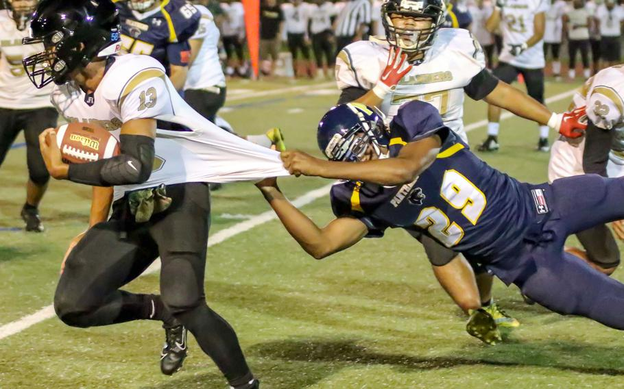Guam High's football team can still scrimmage and practice, but in the wake of the announcement Friday that the island's public, private and charter schools were shutting down due to the COVID-19 pandemic, the Panthers have no teams to play against.