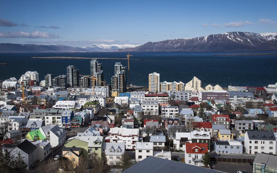 A view of downtown Reykjavik in Iceland.