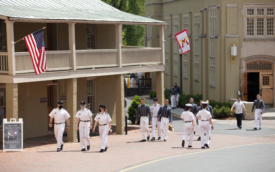 Cadets at VMI in May.
