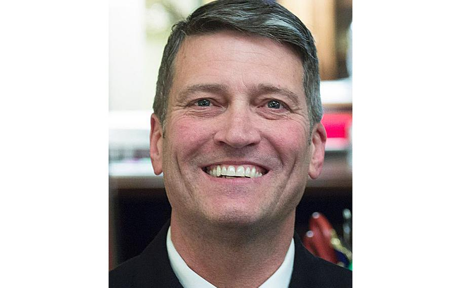 Then-Rear Adm. Ronny Jackson as seen on April 16, 2018, on Capitol Hill.