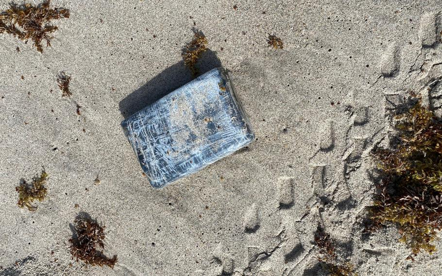 The 45th Security Forces Squadron seized nearly 30 kilograms of cocaine that was found on a beach at Cape Canaveral Space Force Station, Florida, May 19, 2021.