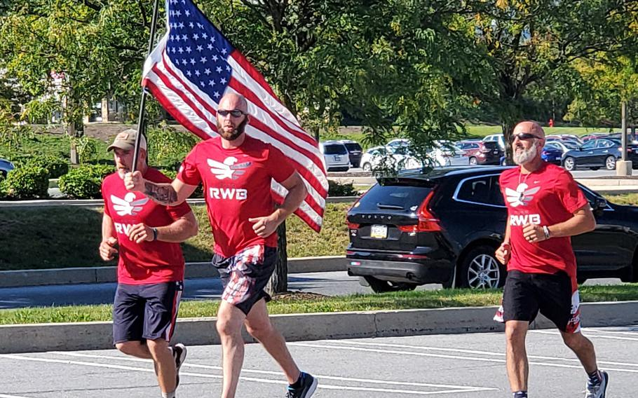 Team Red White & Blue's Old Glory Relay started at Ground Zero on the 20th anniversary of 9/11 and will end on Veterans Day, Nov. 11, at the Mercedes-Benz Stadium in Atlanta.