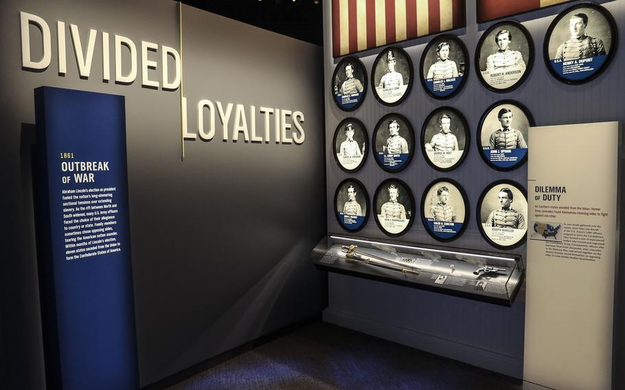 A Civil War exhibit at the National Museum of the United States Army on its reopening day, June 14, 2021.