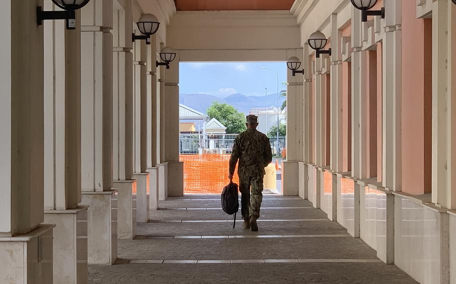 """The Navy in Naples recently kicked off """"Back to Baseline,"""" a program designed to address grooming, uniform and other military life standards that had become lax due to people adjusting their lives to COVID-19, base officials said."""