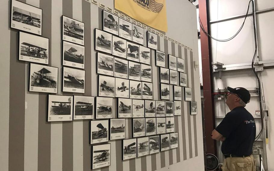 Photographs showcase the many WACO planes built over the years in Troy, Ohio.