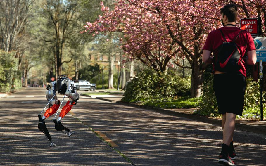 Cassie, a bipedal robot developed at Oregon State University with funding from Defense Advanced Research Projects Agency, made history by learning how to run and then complete a 5-kilometer outdoor run.