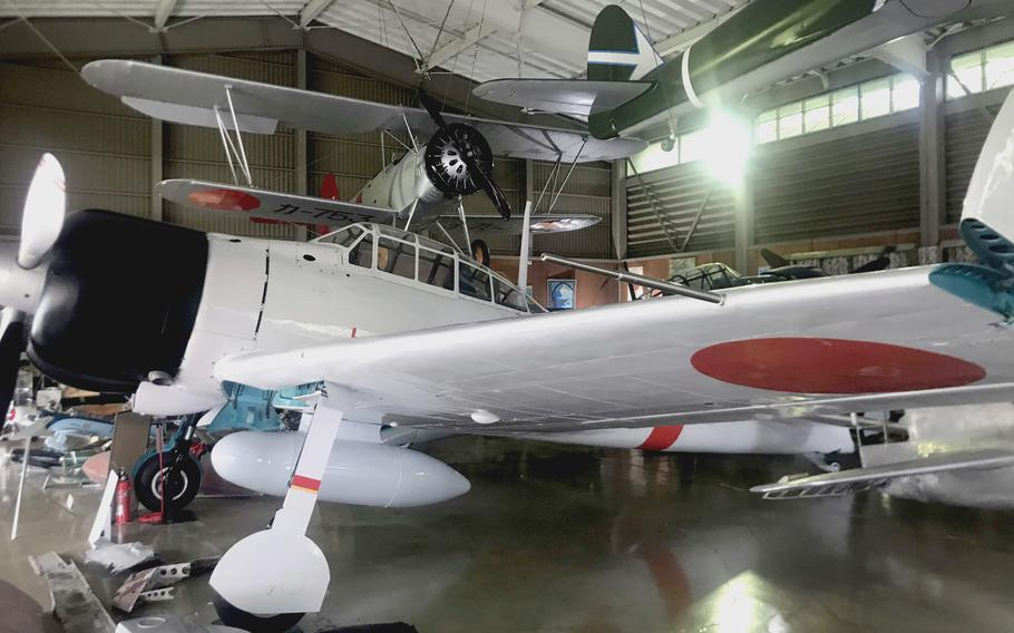 A Mitsubishi A6M2 Zero fighter on display at the Kawaguchiko Zero Fighter Museum, Kawaguchiko, Japan, on Aug. 13, 2021.