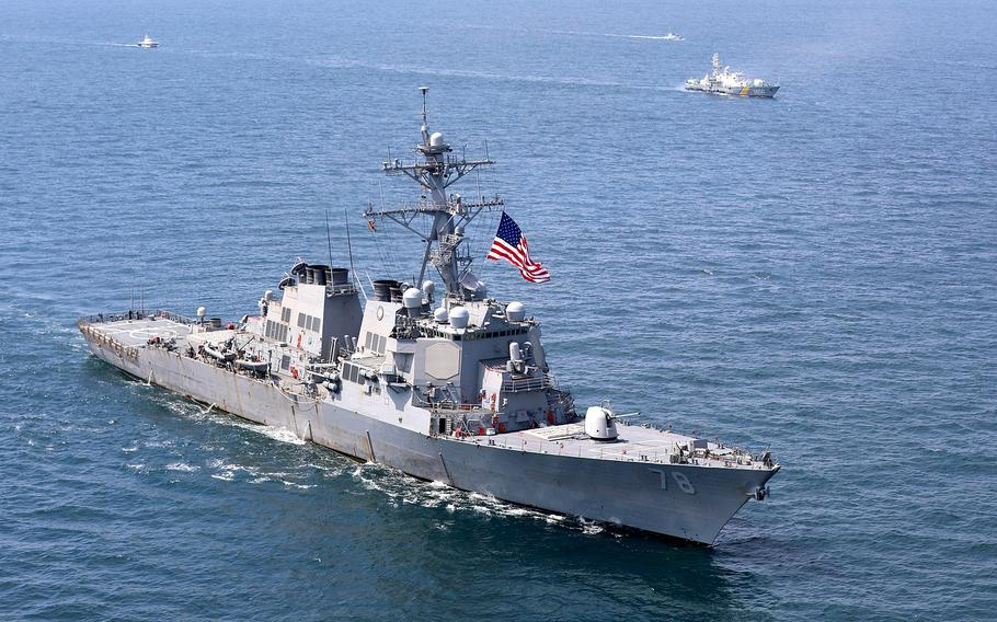 The USS Porter sails the Black Sea during the annual Sea Breeze exercise in July 2020. Sea Breeze 2021 begins June 28, with Russia threatening possible military repercussions.