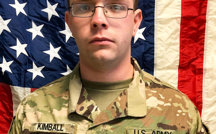 Spc. Branden Tyme Kimball, 21, of Central Point, Oregon, died Feb. 12, 2020, at Bagram Airfield, Afghanistan, in a noncombat incident.  U.S. Army