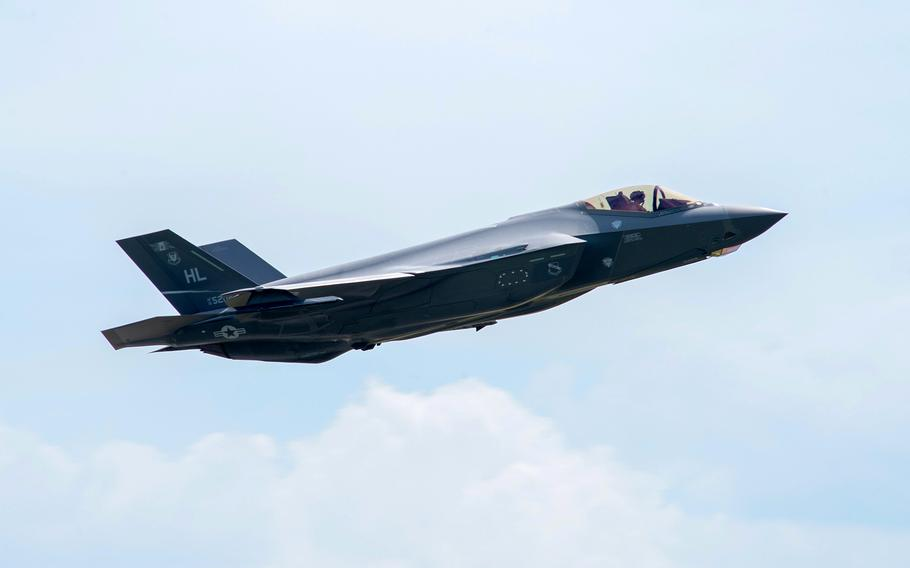 An F-35 Lightning II flies from Spangdahlem Air Base, Germany, in June 2019. Though technical problems have resulted in the plane falling short on operational expectations, Air Force Chief of Staff Gen. Charles Q. Brown Jr. said July 16, 2021, that he expects those issues to be resolved.