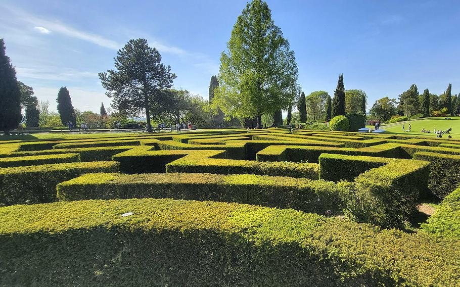 The maze inside the Garden Park Sigurta, near Verona, Italy, opened in 2011. Visitors can make their way around hedges made up of around 1,500 yew trees. The paths wind their way among tall evergreens on a footprint of almost 27,000 square feet.