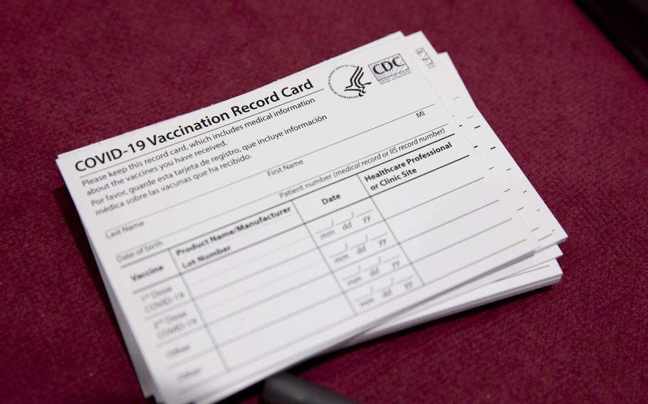 Physical coronavirus vaccination cards are the main proof of inoculation across much of the United States.