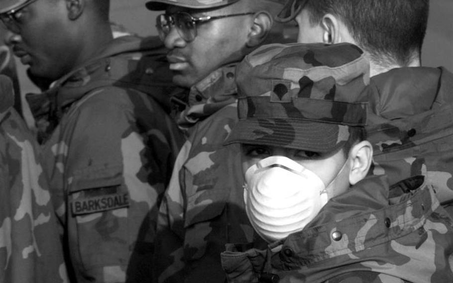 Taszar AB, Hungary, January, 1996: Soldiers with a mystery rash are quarantined at Taszar AB.