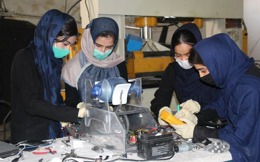 """Amid the rapid advance of the Taliban and the collapse of the Afghan government, the all-girl robotics team """"Afghan Dreamers"""" is trying to escape."""