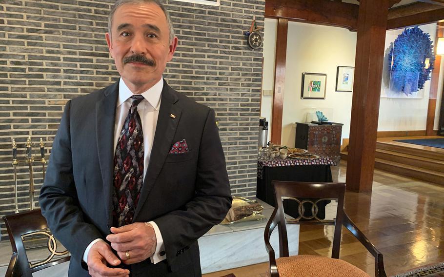 Then-U.S. Ambassador to South Korea Harry Harris poses at his residence in Seoul, South Korea, Jan. 16, 2020.